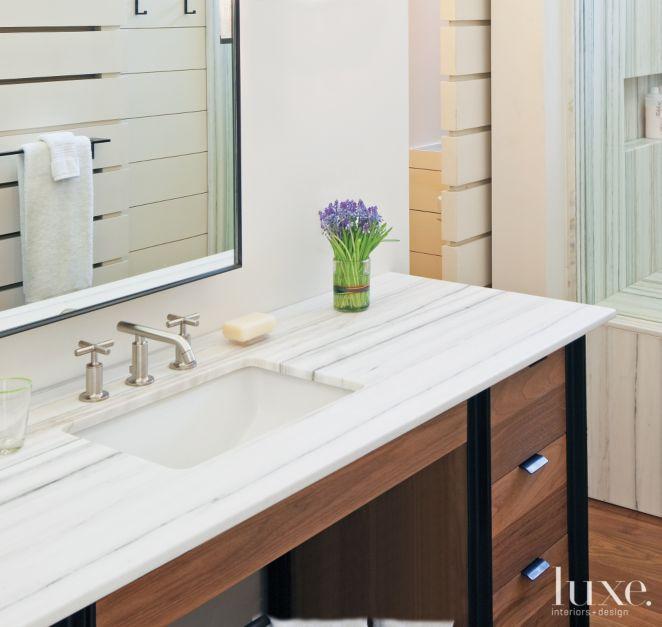 Contemporary Marble Master Bath Luxe Interiors Design