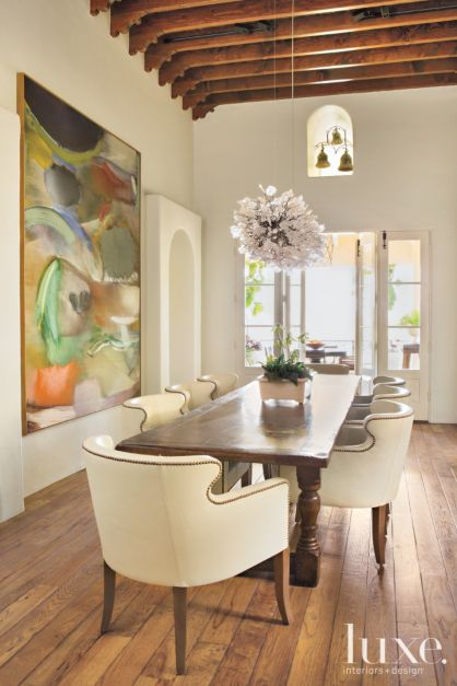 Sculptural Dining Room Chandelier Luxe Interiors Design