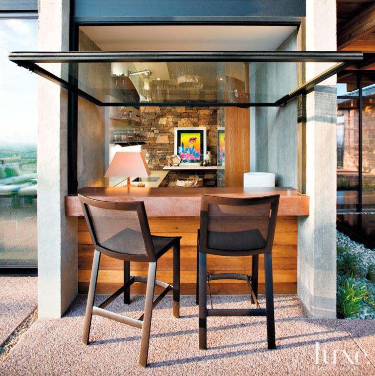 Indoor Outdoor Wet Bar - Luxe Interiors + Design