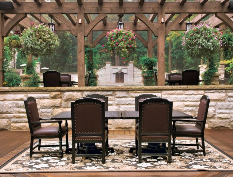 Brown Traditional Outdoor Dining