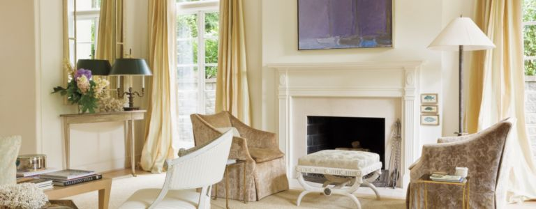 a neutral washington d c home with neoclassical furnishings