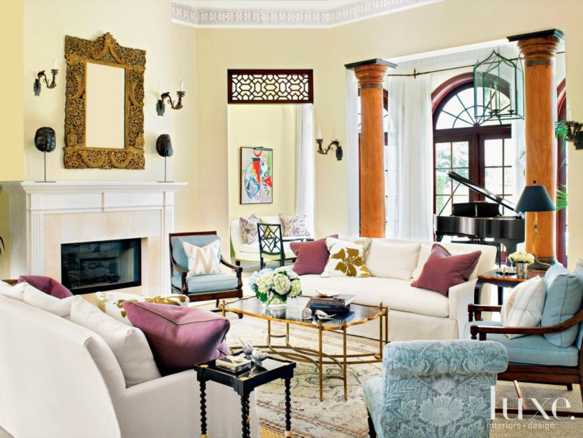An Exotic And Classy Living Room Luxe Interiors Design