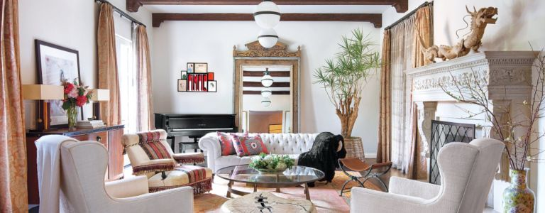 a vibrant beverly hills house infused with globally inspired accents