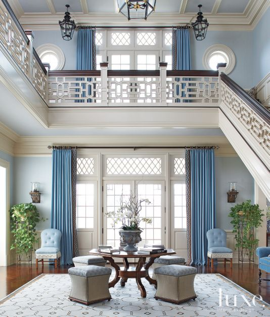 Garden Style Foyer Luxe Interiors Design