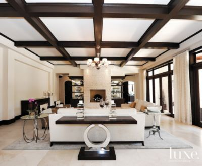 Related Home Tours Living room with limestone