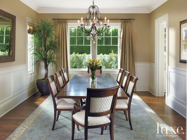 Neutral Formal Dining Room - Luxe Interiors + Design