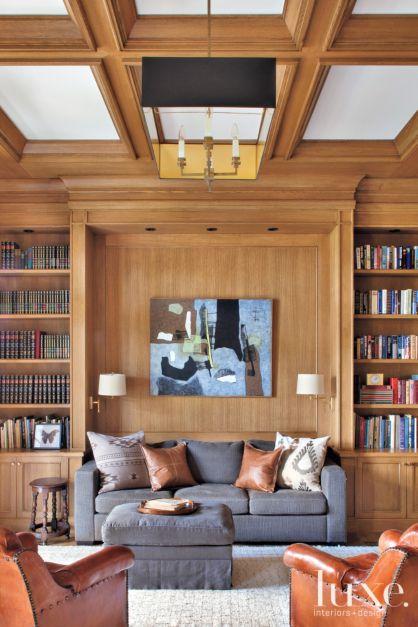 Wood Paneled Library: Wood Paneled Transitional Library