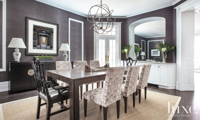 Charcoal Contemporary Dining Room - Luxe Interiors + Design
