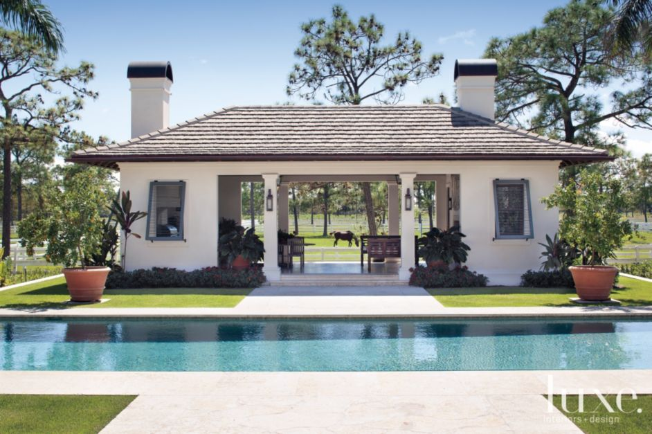 Plantation style pool pavilion luxe interiors design for Pavilion style house plans