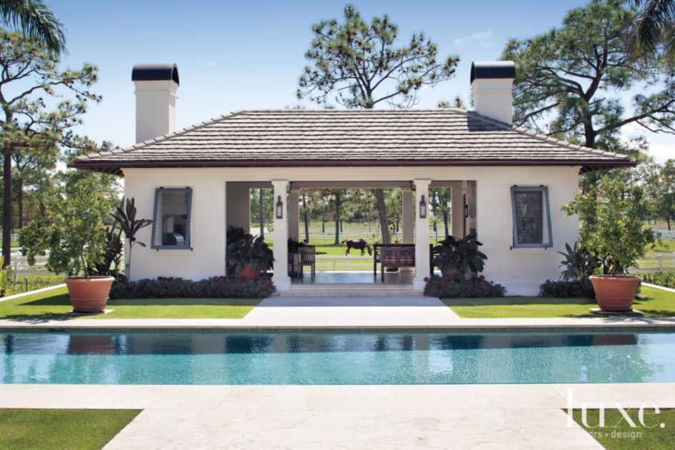 Plantation Style Pool Pavilion - Luxe Interiors + Design