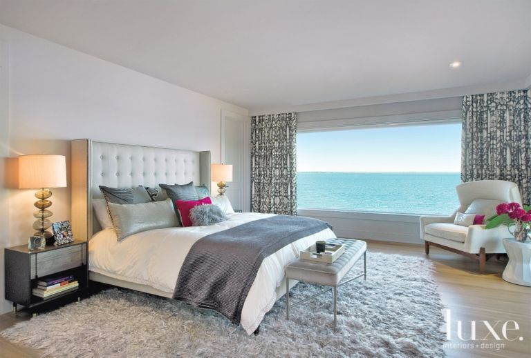 Neutral Modern Master Bedroom With Ocean View