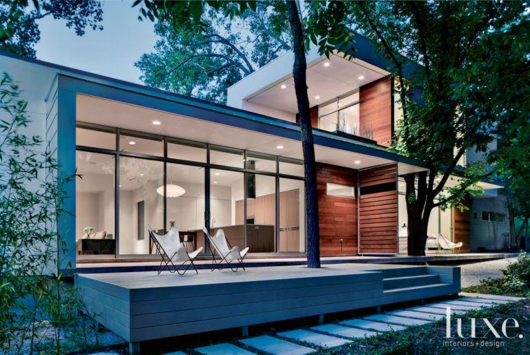 Modern Flat Roof Front Elevation
