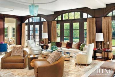 Transitional Material-Rich Lake Forest Home & A Transitional Lake Forest Home with a Rich Material Backdrop ...