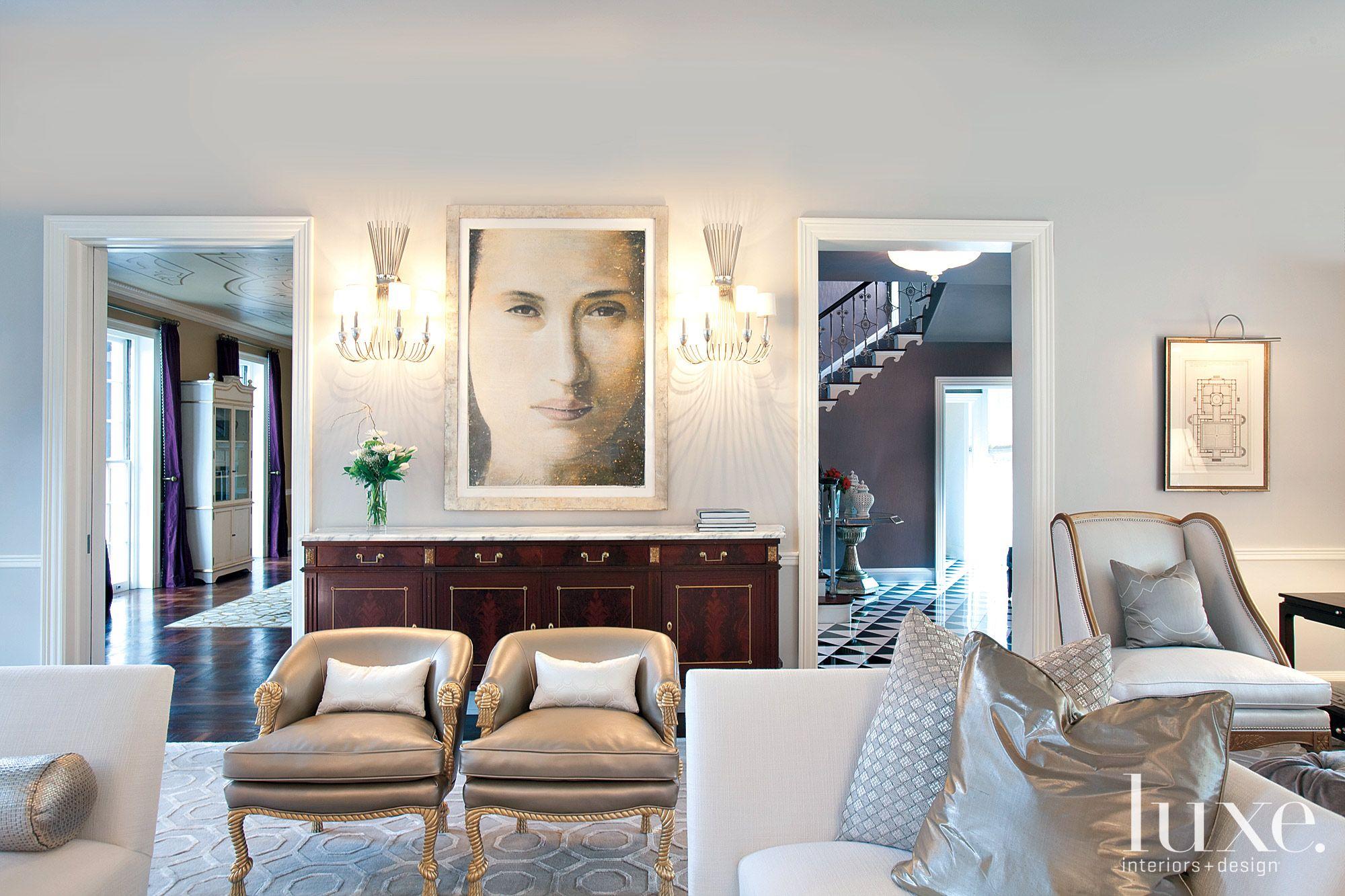 Traditional Gray Formal Living Room