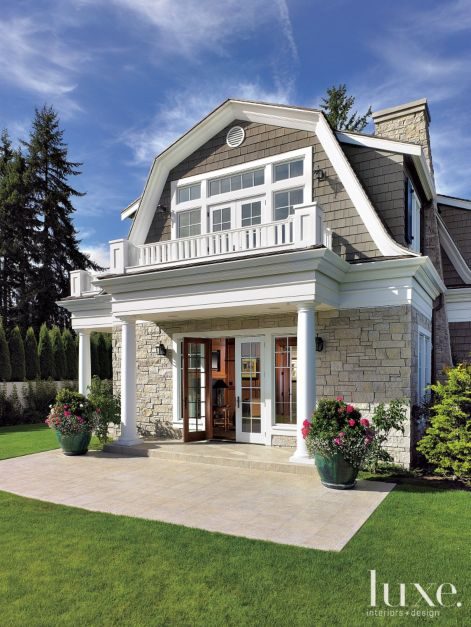 Dutch colonial side exterior luxe interiors design - Dutch colonial interior design ideas ...