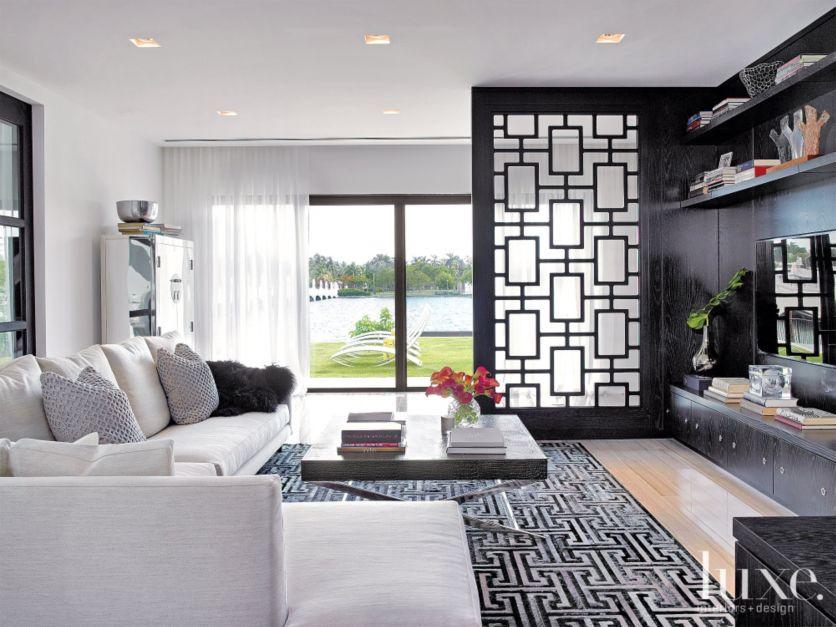 Modern Black Media Room Luxe Interiors Design