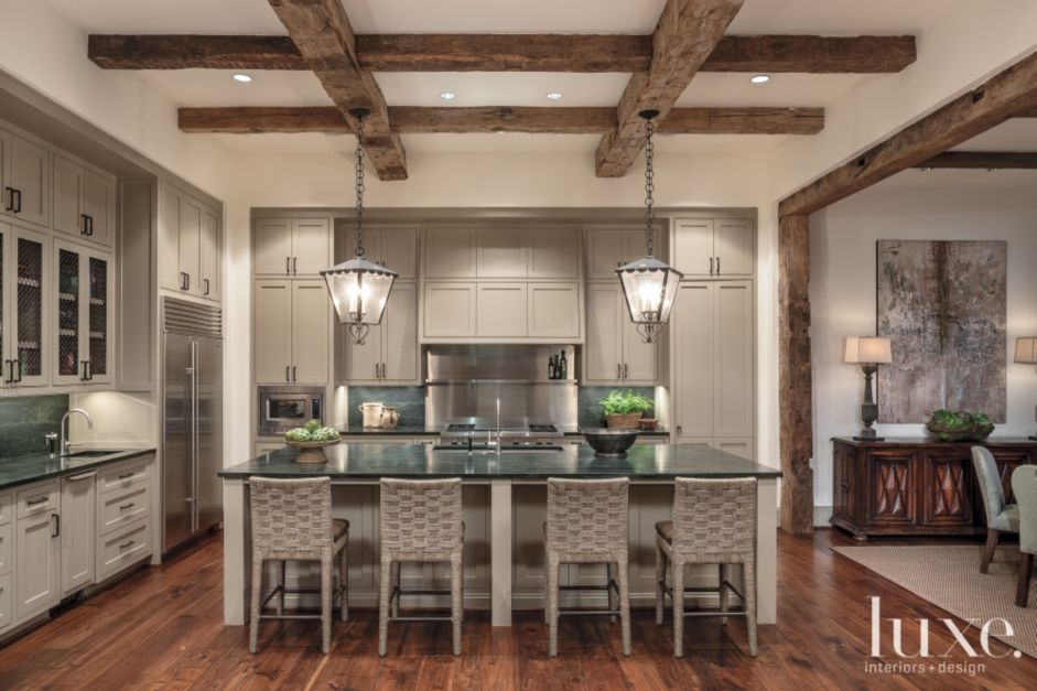 Traditional Open Kitchen Luxe Interiors Design