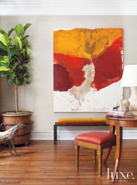 Living Room Mustard Yellow And Red Decor Luxe Interiors