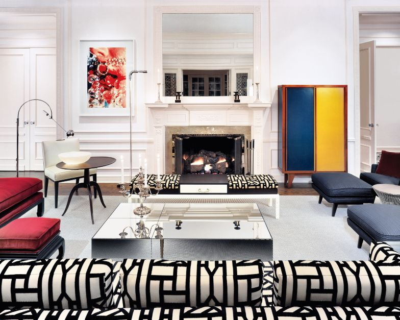 Modern multi colored living room luxe interiors design for Multi color living room ideas