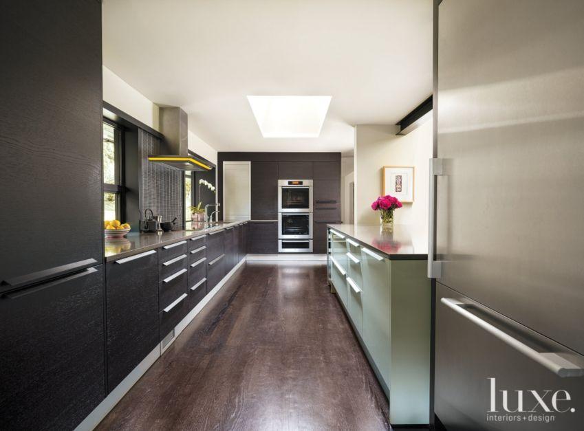 Contemporary Black Kitchen Luxe Interiors Design