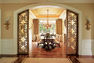 ornate entrance dining room doors luxe interiors design rh luxesource com Frosted Interior Doors Closing Off a Dining Room