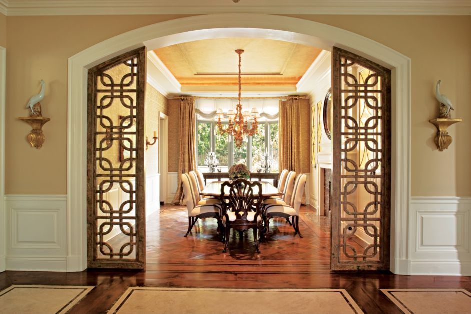 Ornate Entrance Dining Room Doors