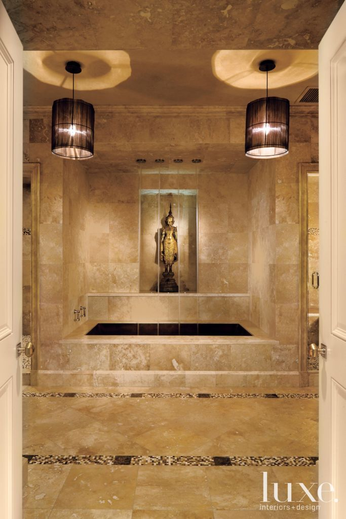 In Home Spa - Luxe Interiors + Design Home Spa Designs on home tennis court design, home restaurant design, home studio design, home recreation room design, home golf design, home winery design, home wine design, bathroom design, home tv room design, home cafe design, home shop design, home luxury design, home house design, home construction design, home nightclub design, 1800 hacienda interior design, home gymnasium design, massage design, home decor design, recipe design,