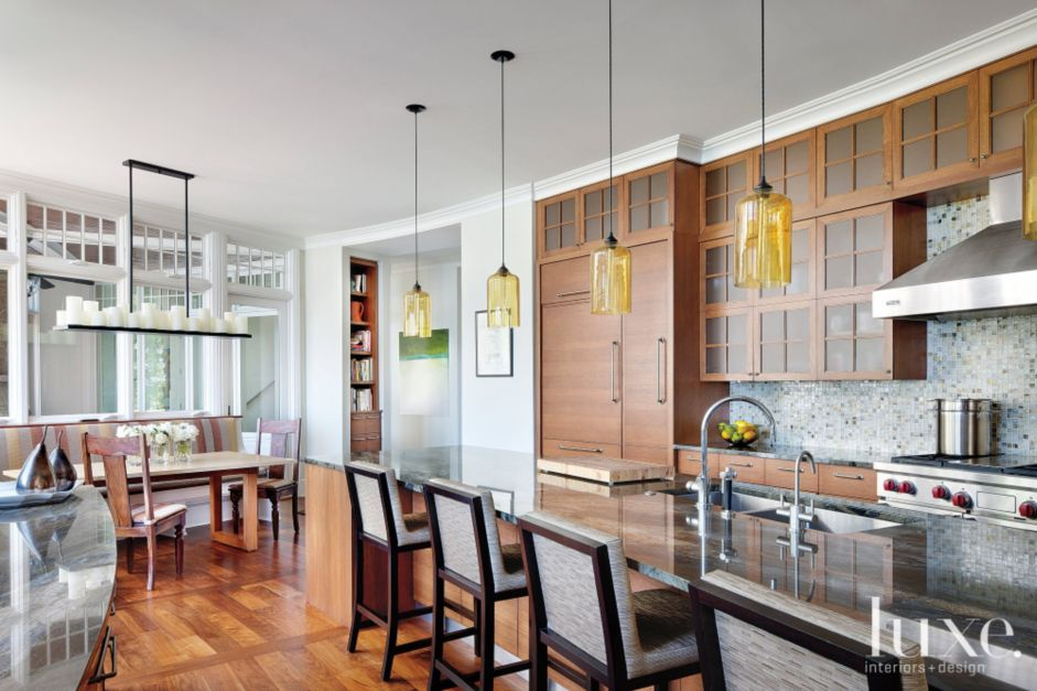 Modern Kitchen With Marble Countertop Luxe Interiors
