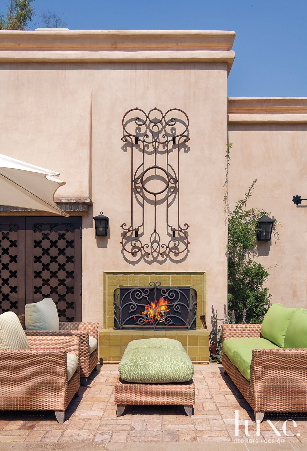 Mediterranean Outdoor Seating Area