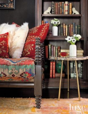 Related Designs Black Eclectic Den with Antique