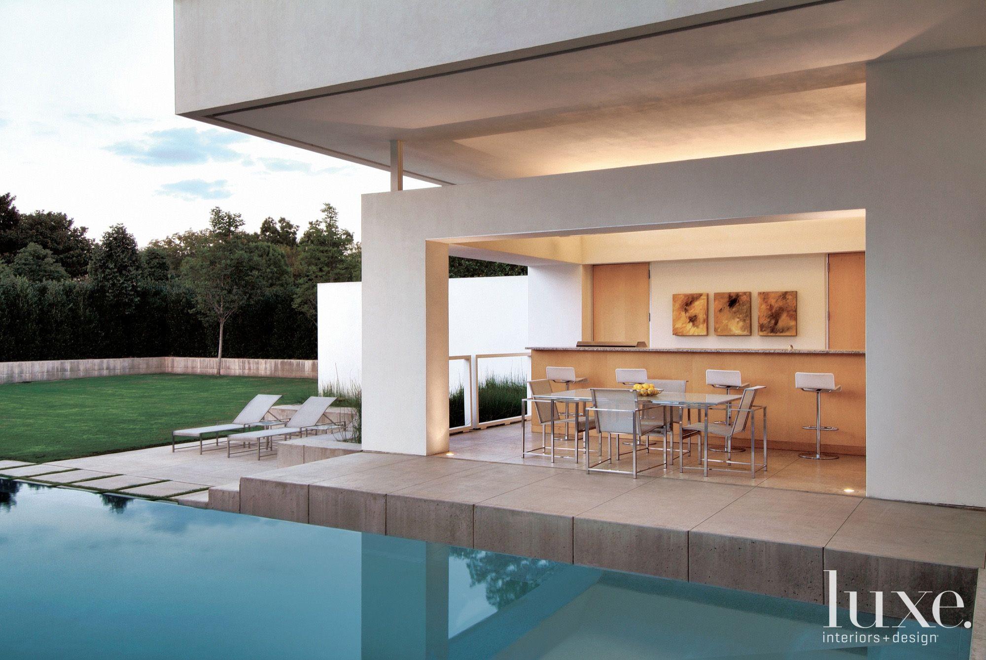 Modern Indoor-Outdoor Poolside Patio