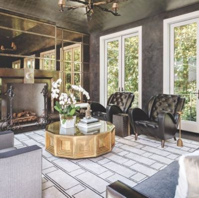 Exceptionnel Black And Gold Strong Living Room Design Aesthetic   Luxe Interiors + Design