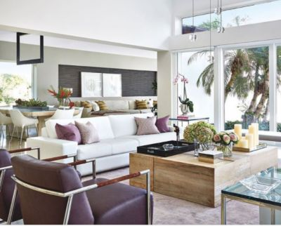 Beau Deep Purple And Lavender Elegant And Cozy Airy Living Room   Luxe Interiors  + Design