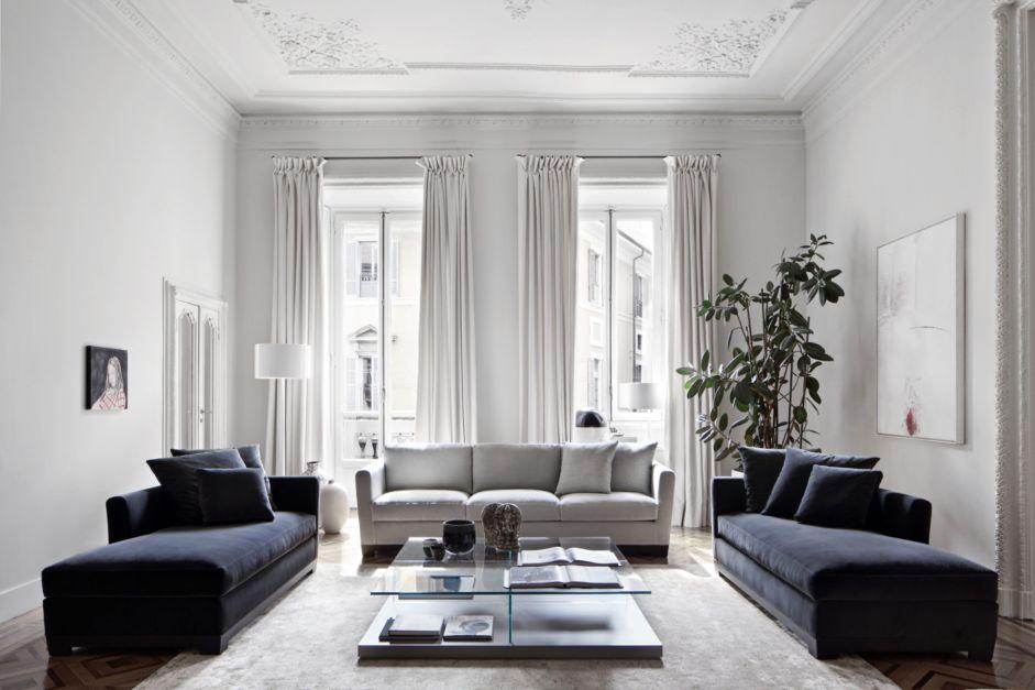 34 milan flagship allen sofa and meridienne clooney. Black Bedroom Furniture Sets. Home Design Ideas