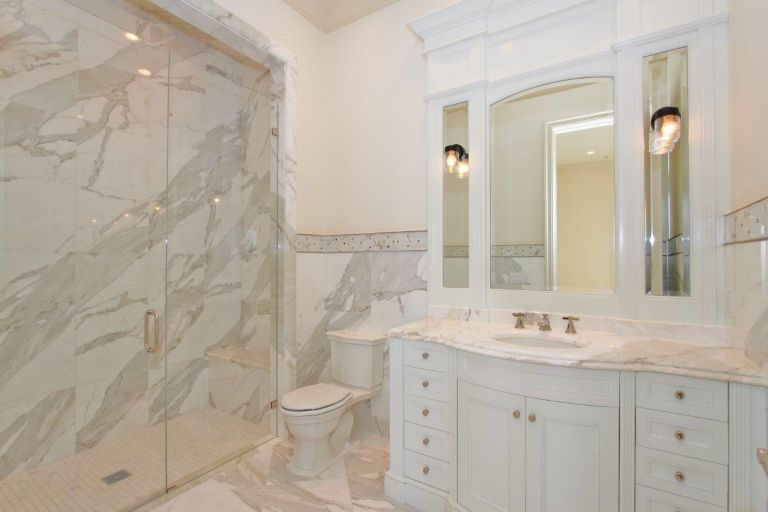 Villa Bedroom Featuring Grigio Pompeii Marble