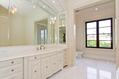 Villa Penthouse Bedroom Featuring Grigio Pompeii Marble