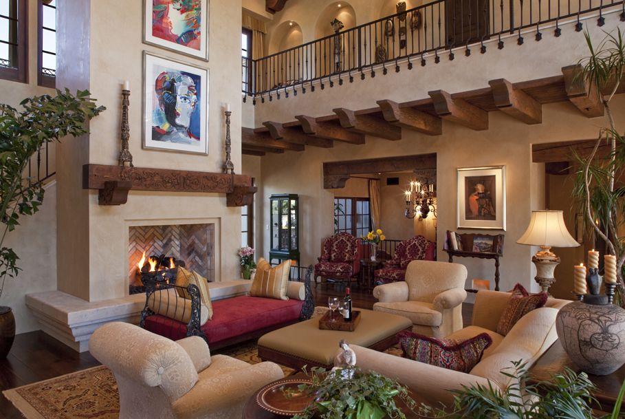 An Open Hallway On The Second Floor Overlooks Living