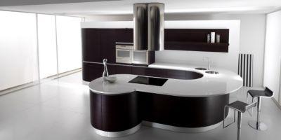 Dark Oak veneer u0026 Corian Countertops vanity & Model: Timo Wood_ Veneer doors U Aluminum Profile Curve elements ...