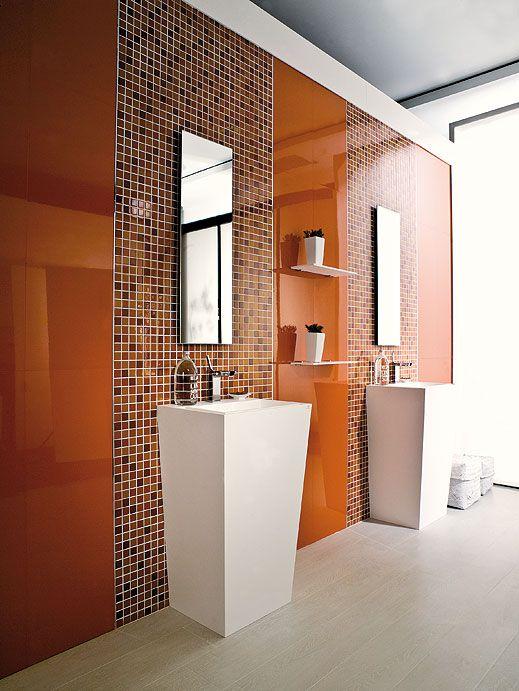 Eidos Ambar Is An X Ceramic Mosaic With Gloss Finish - 8 x 12 bathroom tiles