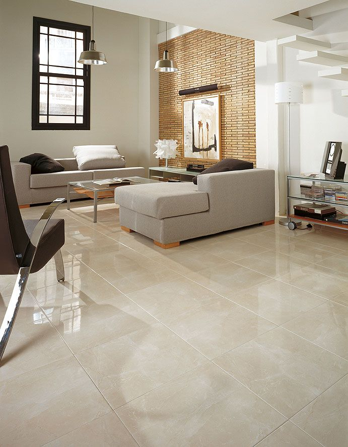 """Marmol Nilo Marfil\' is an 18""""x18"""" ceramic marble-like tile with high ..."""