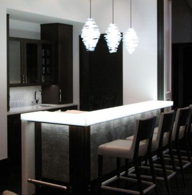 LED Edge Lit Glass Shelves