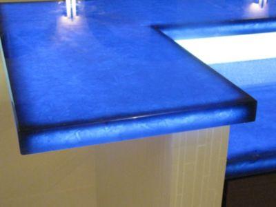 Bio Glass Countertops #45 - LED Edge Lit Glass Shelves