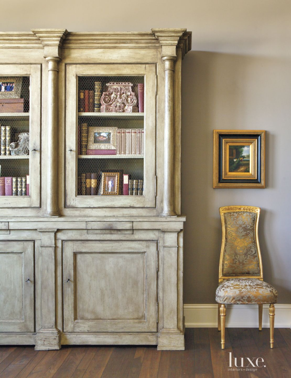 Traditional Hall Detail with Hutch
