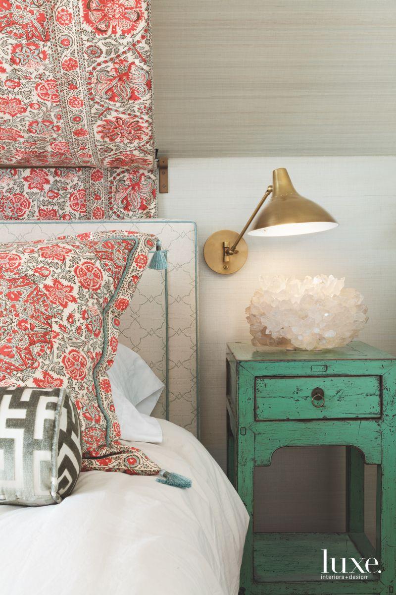 Master Bedroom with a Custom Upholstered Platform Bed