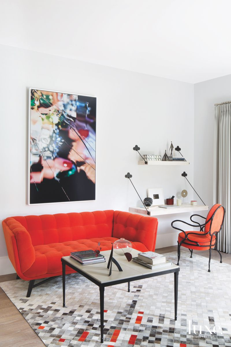 Sitting Room with a Bold Ambiance