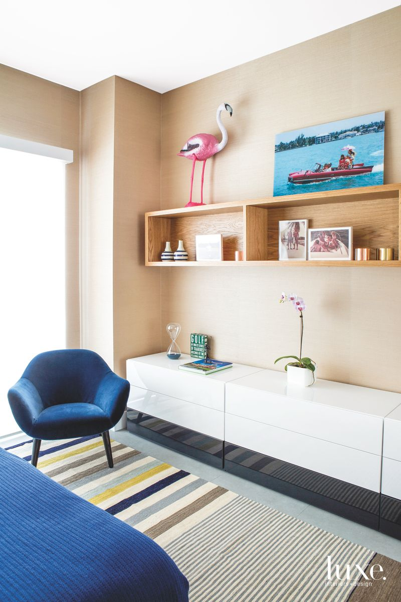 Nautical Touch Bedroom with Flamingo and Art