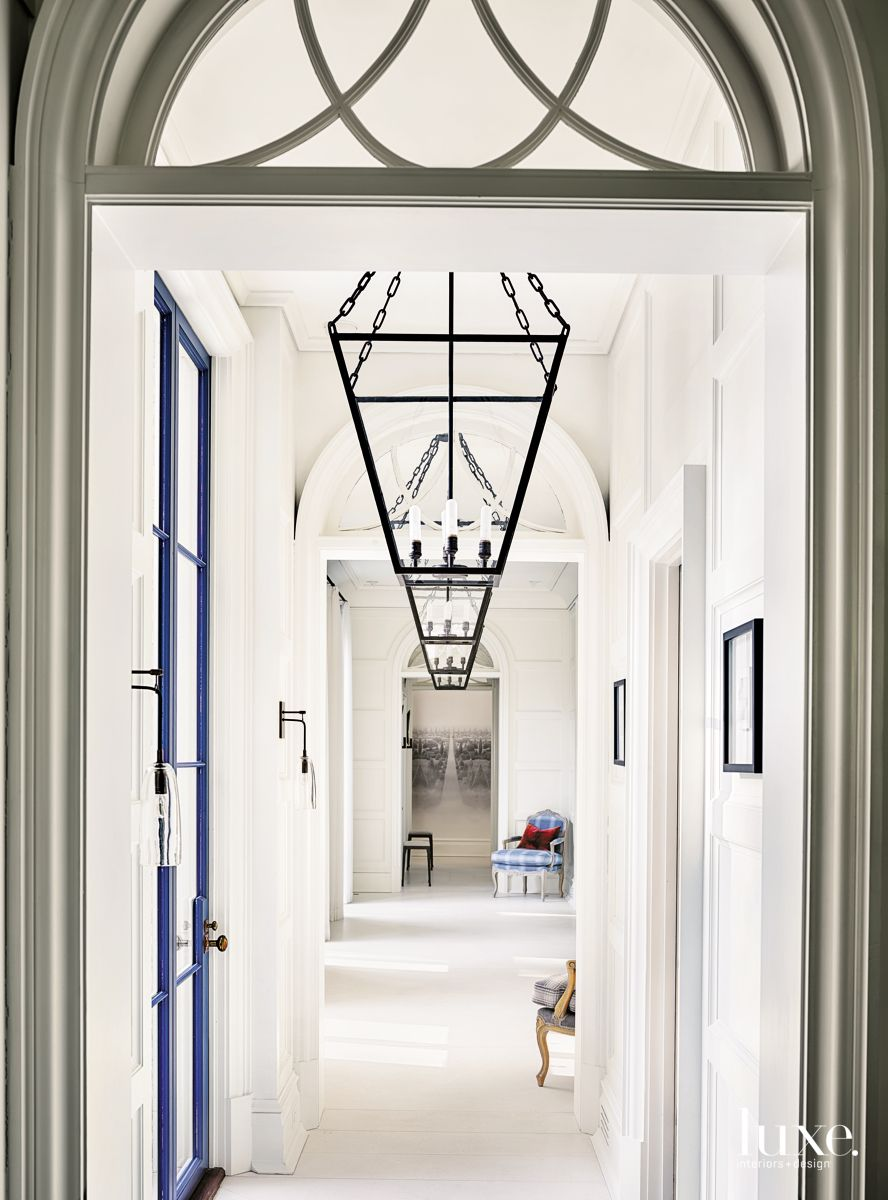 Swinging Entryway with Chandeliers