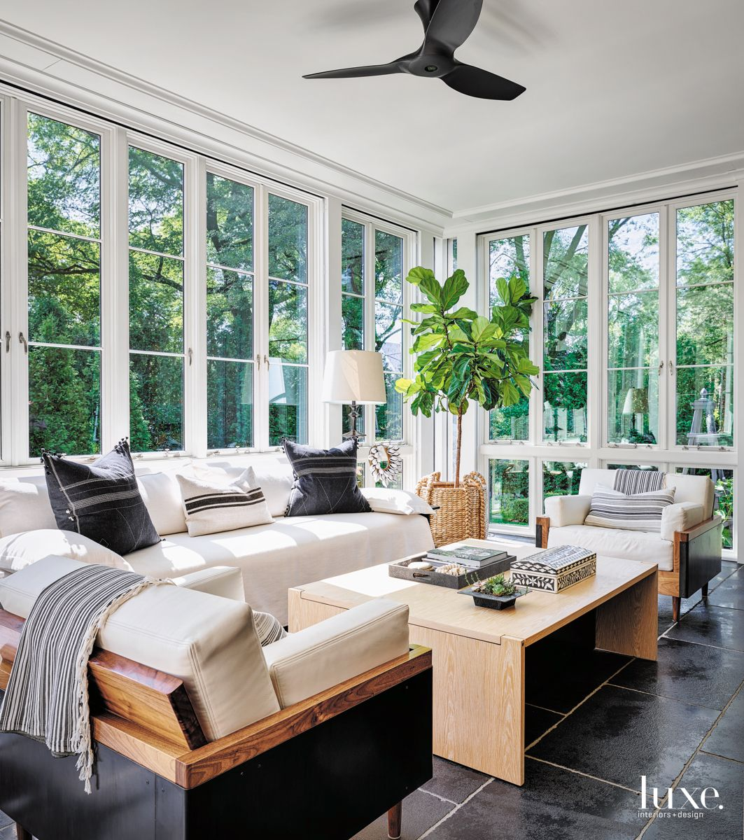 Three Season Sunroom with Country Feel
