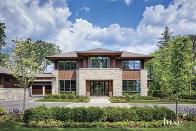 A Transitional Chicago Home with a PrairieStyle Exterior