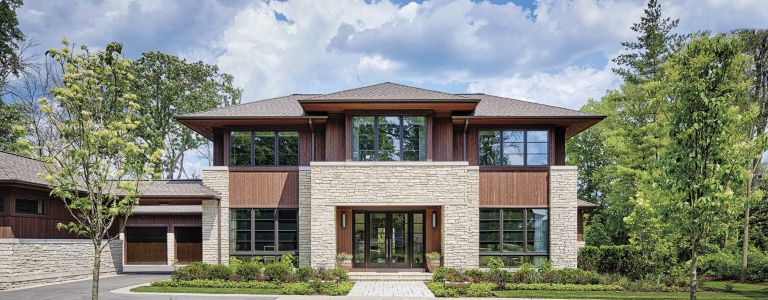 A Transitional Chicago Home with a Prairie-Style Exterior ...
